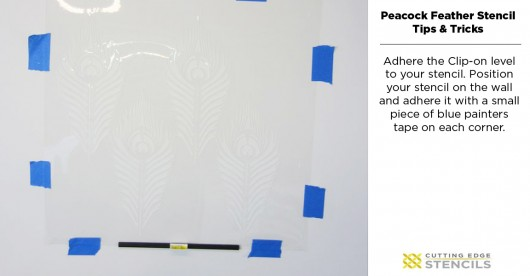 Stenciling Tutorial on how to stencil the Peacock Feather Allover pattern from Cutting Edge Stencils. http://www.cuttingedgestencils.com/peacock-feather-wall-stencil-pattern.html