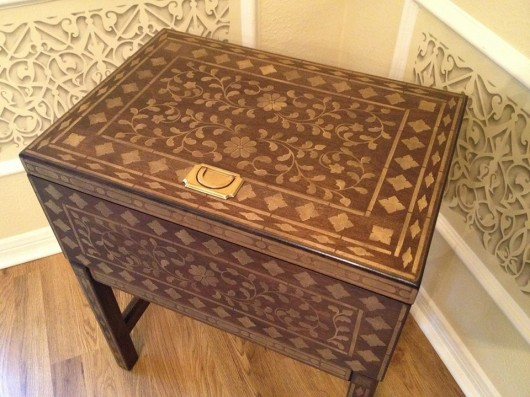 A painted chest using the Indian Inlay Stencil Kit. http://www.cuttingedgestencils.com/indian-inlay-stencil-furniture.html