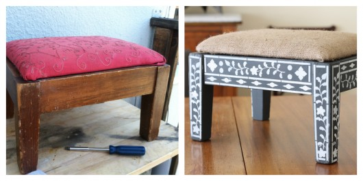 A painted step stool using the Indian Inlay Stencil Kit. http://www.cuttingedgestencils.com/indian-inlay-stencil-furniture.html
