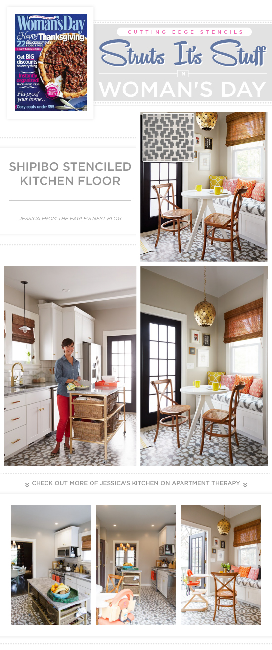 Cutting Edge Stencils Struts Its Stuff in Woman's Day on fall fireplace ideas, fall cooking, fall kitchen garden, fall design ideas, fall kitchen themes, fall kitchen colors, fall garden ideas, fall decorations for front of house, fall kitchen design, fall kitchen rugs, fall decorating tips, fall living rooms, kitchen wall paint ideas, fall wedding ideas, fall remodeling ideas, diy fall decor ideas, fall kitchen decorations, fall lighting ideas, fall bedroom ideas, fall kitchen decor,