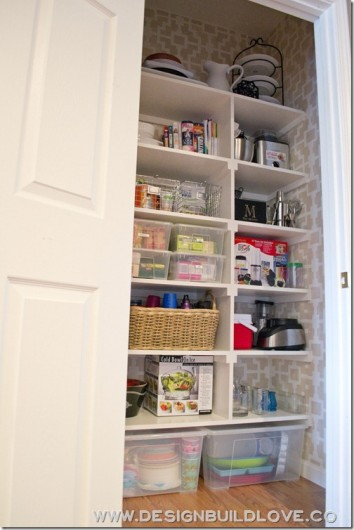 A stenciled pantry makeover using the Shipibo Allover pattern from Cutting Edge Stencils. http://www.cuttingedgestencils.com/stencils-wall-stencil-shipibo.html