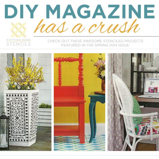 Diy Magazine diy magazine has a stencil crush