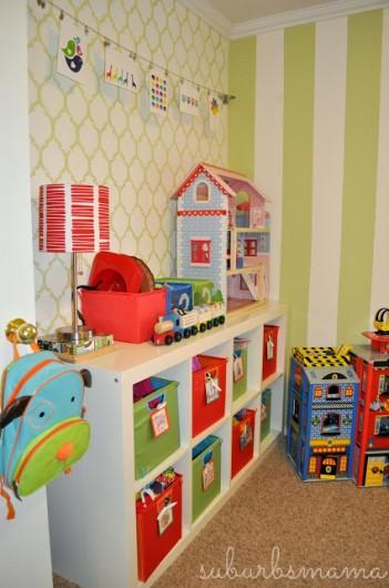 A stenciled playroom using the Moroccan Dream pattern. http://www.cuttingedgestencils.com/moroccan-stencil-design.html