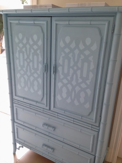 This is a Trellis Allover stenciled dresser. http://www.cuttingedgestencils.com/allover-stencil.html
