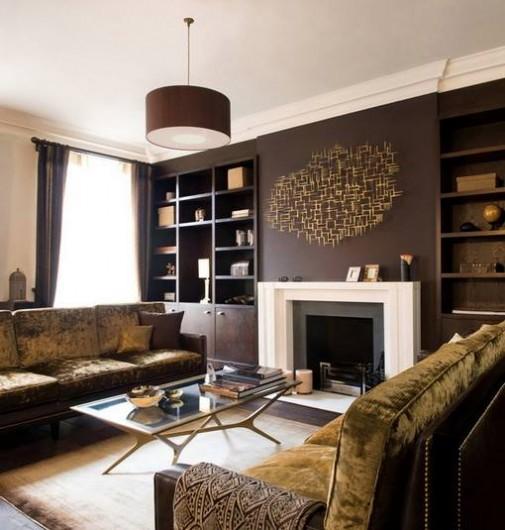 Kim Myles Shared This Gorgeous Chocolate Brown Room Idea