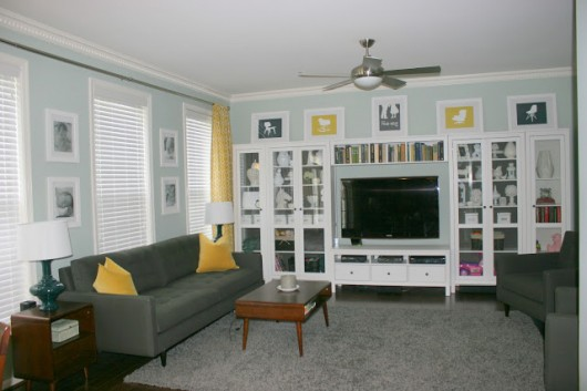 A gorgeous great room painted by Kelly from Modern Camelot.