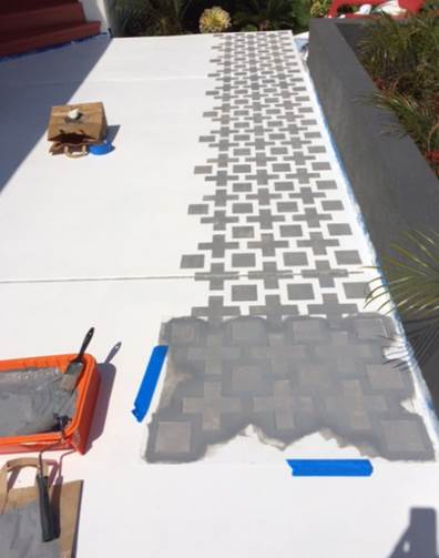 Learn How To Stencil A Pretty Patio
