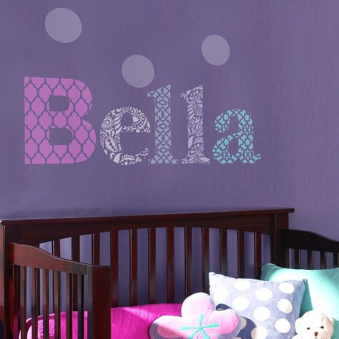 DIY Letter stencils for names, monograms, and words on walls. http://www.cuttingedgestencils.com/letter-stencils-letters%20for-wall-alphabet-stencils.html