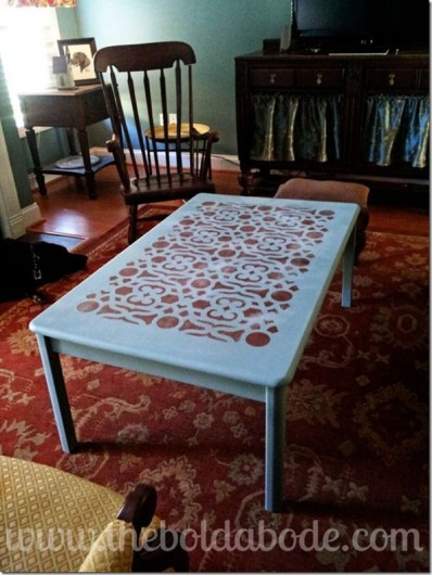 Superieur DIY Stenciled Table Tutorial Using The Covington Stencil.  Http://www.cuttingedgestencils