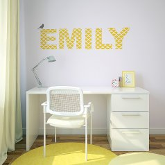 DIY kids room idea using the Mermaid Letter Stencil part of the Alphabet Stencil Collection. http://www.cuttingedgestencils.com/mermaid-stencil-letters-baby-name-nursery.html