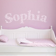 A DIY little girl's room using the Paisley Letter Stencil. http://www.cuttingedgestencils.com/paisley-pattern-letter-wall-stencils-for-nursery.html
