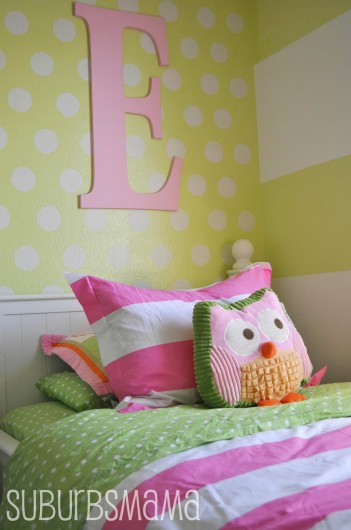 A Chartreuse Stenciled Accent Wall In A Kids Room Using The Polka Dot  Stencil. Http