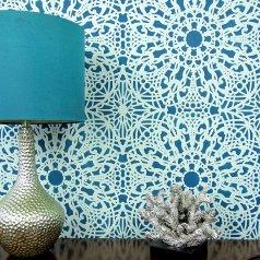 Stephanie's Lace Allover Stencil from Cutting Edge Stencils. http://www.cuttingedgestencils.com/lace-stencil-wall-decor-stencils.html