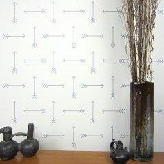 Tribal Arrows Stencil from Cutting Edge Stencils. http://www.cuttingedgestencils.com/tribal-arrow-pattern-stencils-wall-decor.html