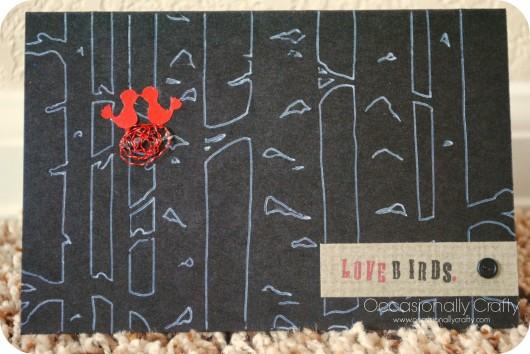 "A stenciled card craft using the Birch Forest card size stencil. Card: design: 6""x8""; sheet: 9""x11"" Page: design: 8.5""x11""; sheet: 11.5""x14"""