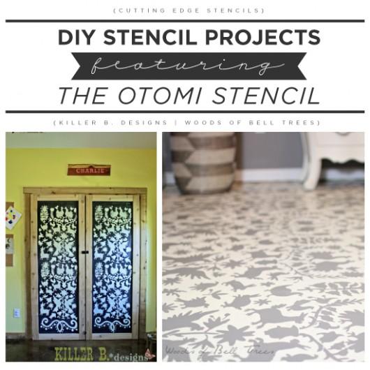 Cutting Edge Stencils shares DIY Otomi stencil projects. http://www.cuttingedgestencils.com/otomi-tribal-wall-pattern-stencil.html