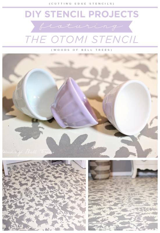 A DIY stenciled floor using the Otomi Stencil. http://www.cuttingedgestencils.com/otomi-tribal-wall-pattern-stencil.html