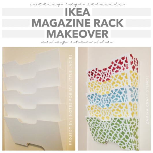 Ikea Magazine Rack Makeover Using Stencils Beauteous Magazine Holder Template