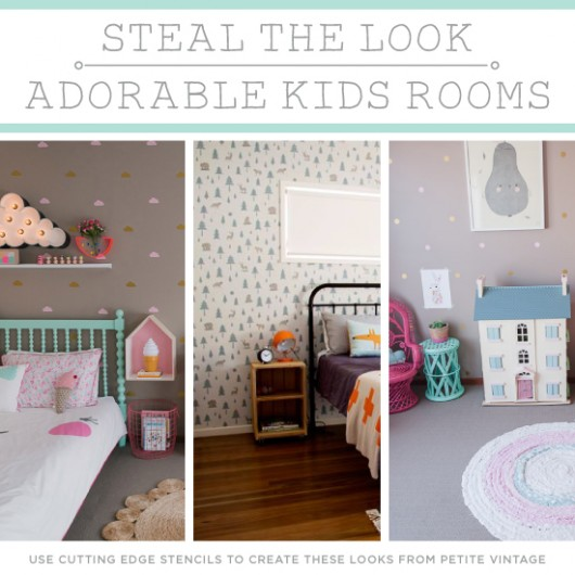 steal the look adorable kids rooms rh cuttingedgestencils com printable stencils for kids' rooms Baby Room Stencils