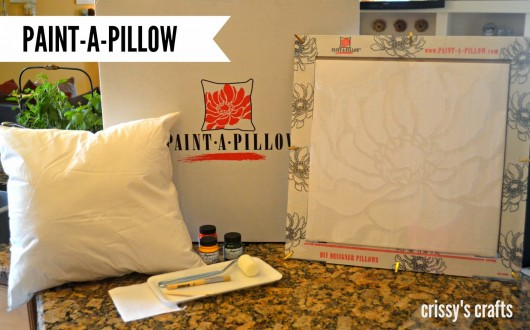 The Paint-A-Pillow kit with Anemone Blossom stencil to create a DIY stenciled accent pillow. http://paintapillow.com/index.php/paint-a-pillow-kits/nature-inspired-diy-accent-pillows/anemone-blossom-paint-a-pillow-kit.html
