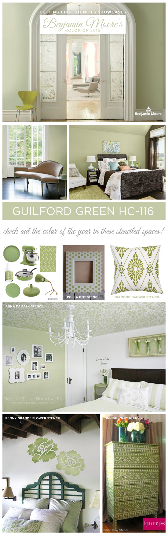 Cutting Edge Stencils Shares Stenciled Home Decor Ideas Using Benjamin  Mooreu0027s Color Of The Year 2015