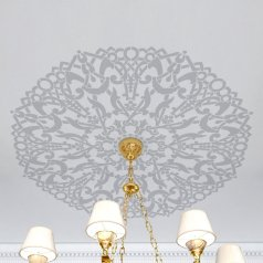 The Madison Medallion Stencil from Cutting Edge Stencils. http://www.cuttingedgestencils.com/madison-medallion-stencil-diy-ceiling-decor.html