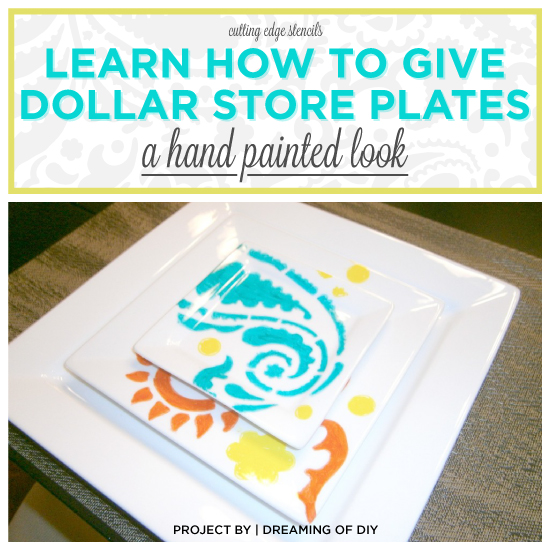 Cutting Edge Stencils shares a DIY stenciled plate idea using the Paisley Allover pattern and sharpies. http://www.cuttingedgestencils.com/paisley-allover-stencil.html