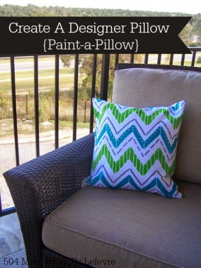 A DIY stenciled accent pillow using the Tribe Paint-A-Pillow kit. http://paintapillow.com/index.php/tribe-paint-a-pillow-kit.html
