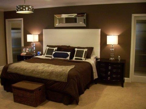 A before shot of a bedroom makeover.
