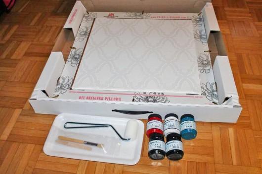 The Oasis Paint-A-Pillow kit. http://paintapillow.com/index.php/oasis-paint-a-pillow-kit.html