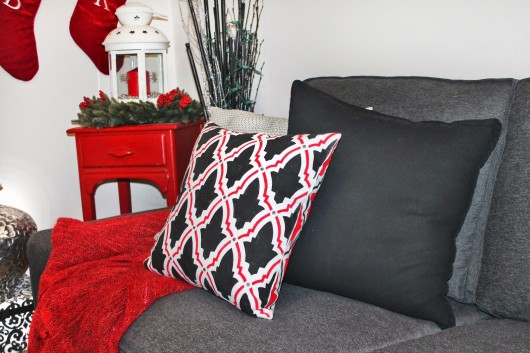 A Christmas stenciled accent pillow using the Oasis Paint-A-Pillow kit. http://paintapillow.com/index.php/oasis-paint-a-pillow-kit.html