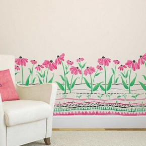 Cool Coneflowers Wall Stencil. http://www.cuttingedgestencils.com/coneflowers-border-stencil-wall-stencils.html