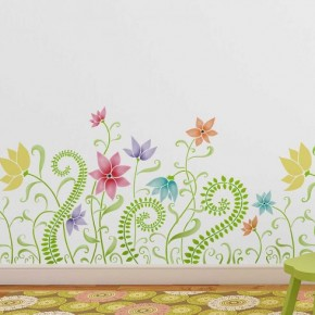 Blooms and Ferns Border Stencil. http://www.cuttingedgestencils.com/blooms-ferns-floral-border-wall-stencil.html