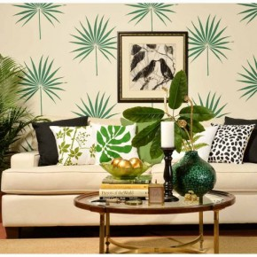 Palmetto Leaf Wall Art Stencil. http://www.cuttingedgestencils.com/palm-leaf-stencil-palmetto-wall-decor.html