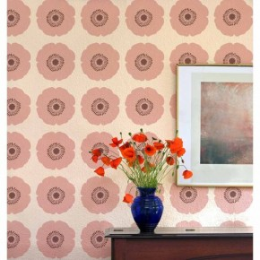 Poppy Power Allover Stencil pattern. http://www.cuttingedgestencils.com/poppy-flower-wall-pattern-stencil.html
