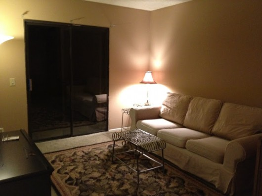 A before shot of a living room.