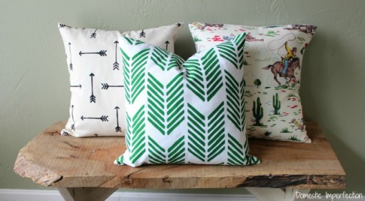 DIY painted accent pillows using the arrow themed Paint-A-Pillow kit. Painting a DIY accent pillow using the Drifting Arrows Paint-A-Pillow kit. http://paintapillow.com/index.php/drifting-arrows-paint-a-pillow-kit.html