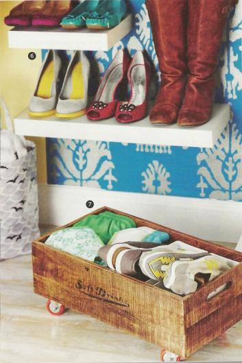 A stenciled closet featured in DIY Storage Ideas Magazine using the Ikat Samarkand Stencil http://www.cuttingedgestencils.com/ikat-stencil-uzbek.html