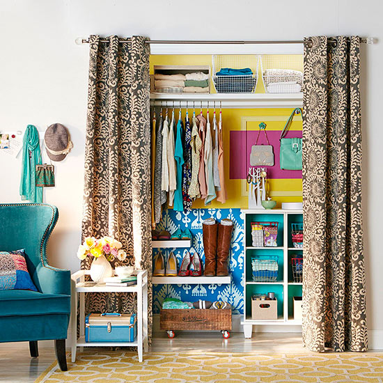 A Stenciled Closet Featured In DIY Storage Ideas Magazine Using The Ikat  Samarkand Stencil Http: