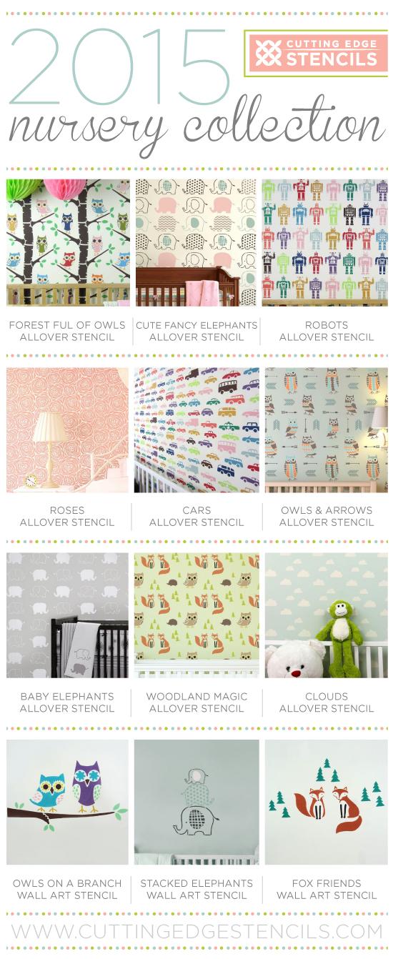 Cutting Edge Stencils shares DIY nursery ideas using wall stencils. http://www.cuttingedgestencils.com/wall-stencils-stencil-designs.html