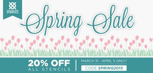 Spring Stencil Sale. Take 20% of all stencils from Cutting Edge Stencils http://www.cuttingedgestencils.com/wall-stencils.html