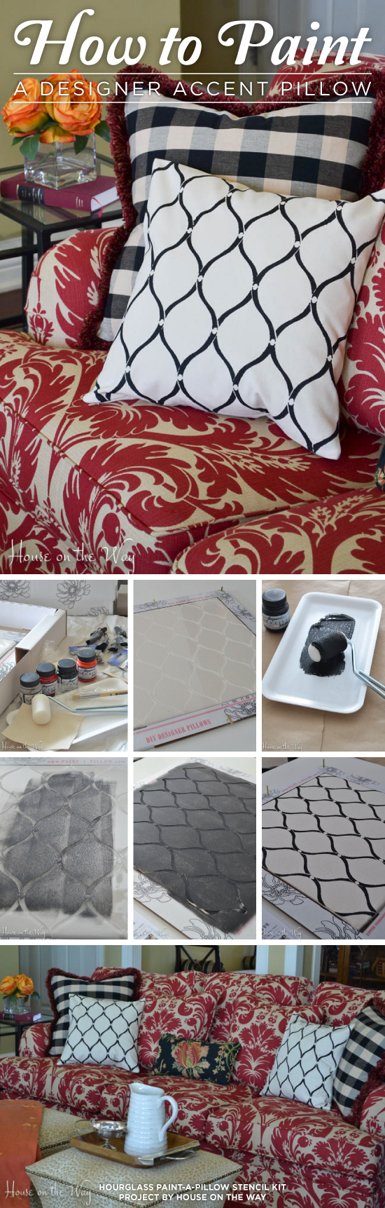Learn how to paint a DIY designer accent pillow using the Hourglass Paint-A-Pillow kit. http://paintapillow.com/index.php/hourglass-paint-a-pillow-kit.html