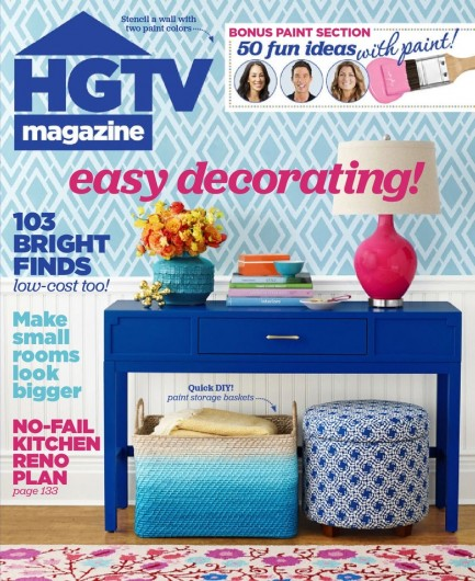 HGTV Magazine features the Alexa Allover Stencil from Cutting Edge Stencils. http://www.cuttingedgestencils.com/alexa-allover-wall-pattern.html