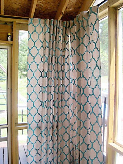 Moroccan Stenciled Drop Cloth Curtain Panels Stencil Stories