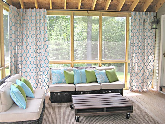 Diy Stenciled Drop Cloth Curtains Using The Moroccan Dream Allover Pattern Http