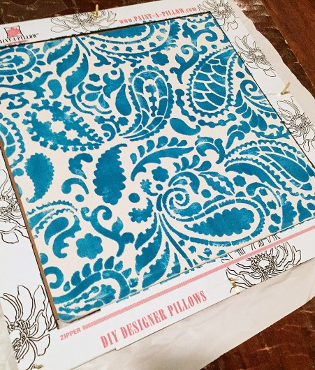 How to make your own DIY stenciled accent pillows using the Paisley Paint-A-Pillow. http://paintapillow.com/index.php/paisleys-paint-a-pillow-kit.html