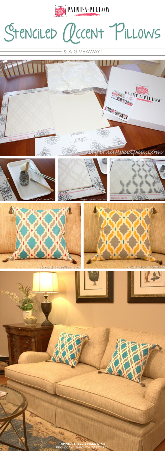 Stenciled Accent Pillows & A Giveaway!