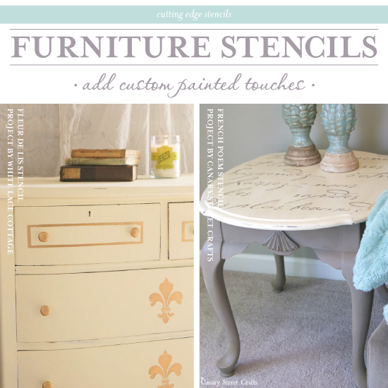 Furniture Stencils Add Custom Painted Touches