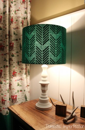 A Diy Lampshade With Hidden Stencil Surprise