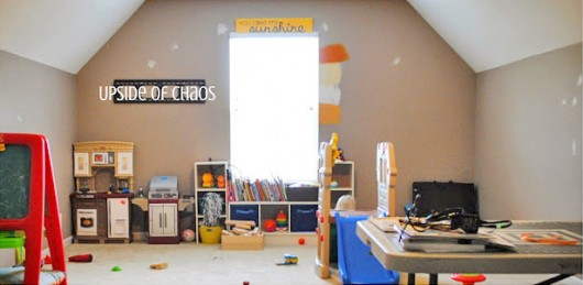 A playroom before its stenciled makeover. http://www.cuttingedgestencils.com/stencil-dreams.html
